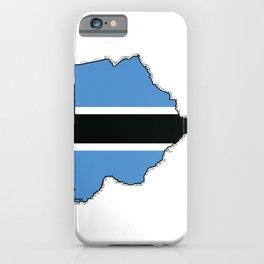 Botswana Map with Botswana Flag iPhone Case