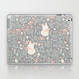 Sleeping Fox - grey Laptop & iPad Skin