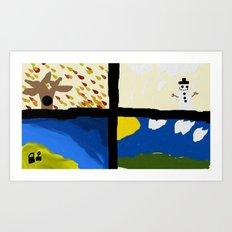 Seasons by Child Art Print