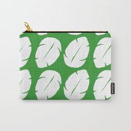 Ohana green background hawaiian leaves Carry-All Pouch
