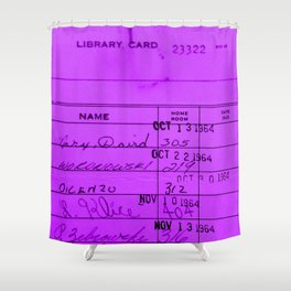 Library Card 23322 Purple Shower Curtain