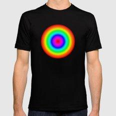 Rainbow Circle Mens Fitted Tee Black MEDIUM
