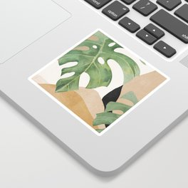Abstract Art Tropical Leaves 3 Sticker