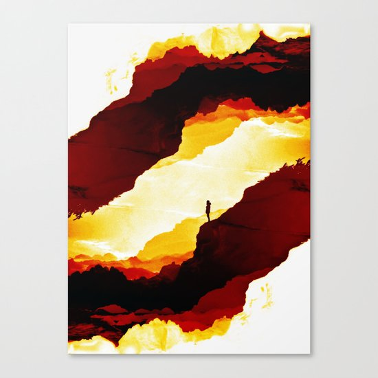 Red Isolation Canvas Print