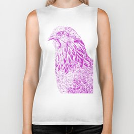 she's a beauty drawing, purple Biker Tank