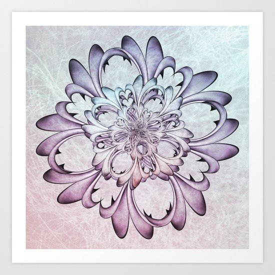 Floral abstract . Art Print