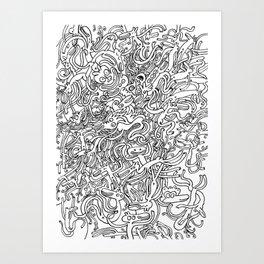 Garbled II Art Print