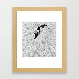 Muse and Creation Framed Art Print