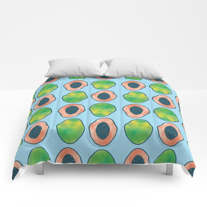 blue papaya Comforters