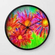 Bright Sketch Flowers Wall Clock