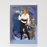 river song Stationery Cards featuring River Song by Saintash