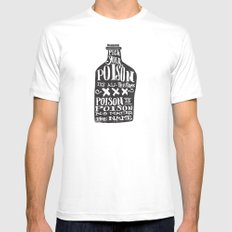 PICK YOUR POISON - REVERSE LARGE White Mens Fitted Tee