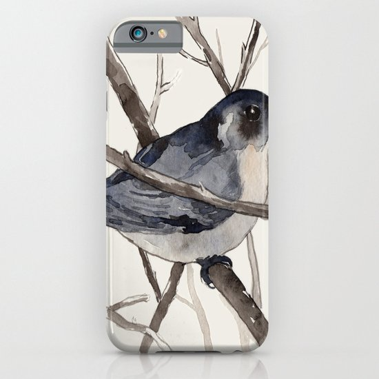 Grey Birdy 2 iPhone & iPod Case