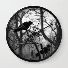 Graveyard Birds Wall Clock