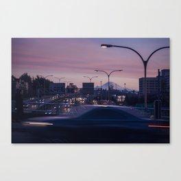 Pink Rainier Canvas Print