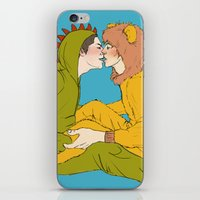 onesie iPhone & iPod Skins featuring My Onesie and Only by notallbees