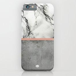 Marble Concrete fusion iPhone Case