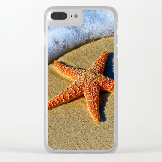 Starfish Wave Clear iPhone Case