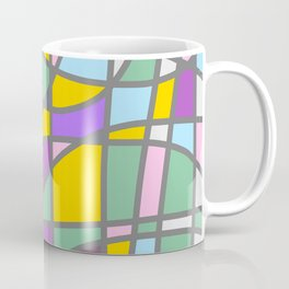 Stain Glass Abstract Meditation Easter Painting Coffee Mug