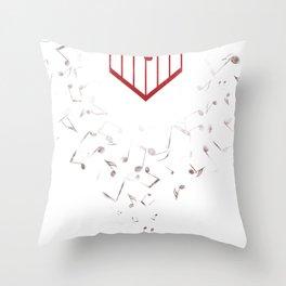 Music Heart Throw Pillow