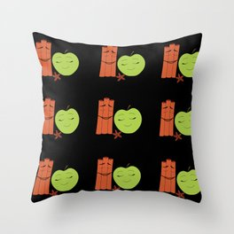 Fall (in Love) Scent/Black Throw Pillow