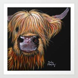 Scottish Highland Cow ' HENRY ' by Shirley MacArthur Art Print
