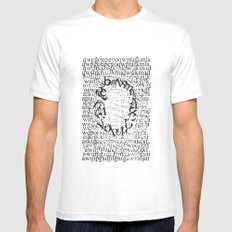 Letters  White Mens Fitted Tee MEDIUM