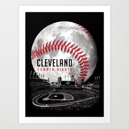 Cleveland Summer Nights Art Print