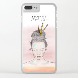 Artist with a Bun Clear iPhone Case