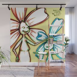"""Moms Know Best"" Flowerkid Wall Mural"