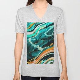 Blue Green Painting Unisex V-Neck