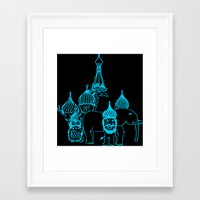 moscow Framed Art Prints featuring Moscow by OneOneTwo