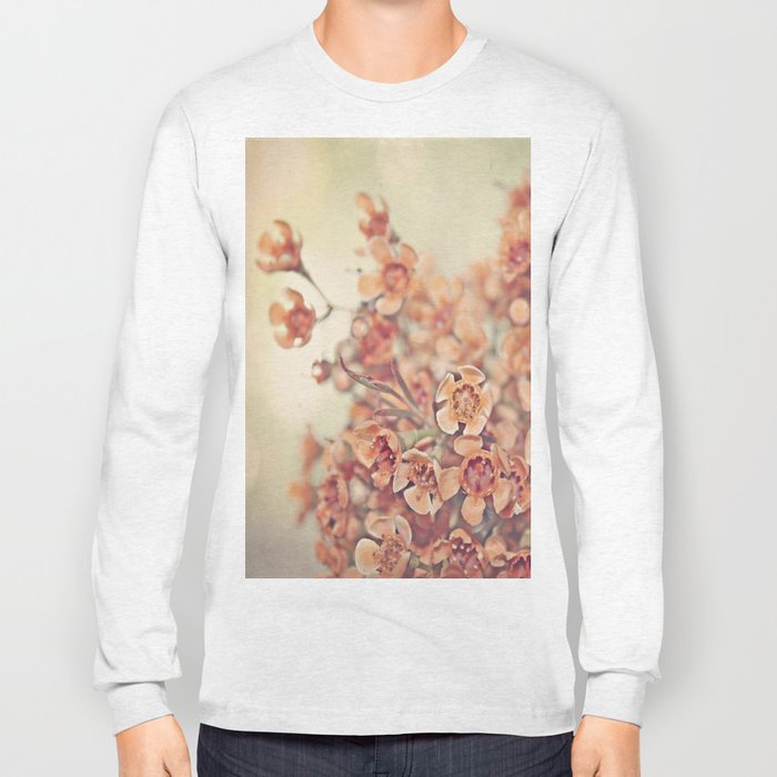 Orange Waxflowers Long Sleeve T-shirt