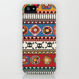 Aztec background iPhone Case