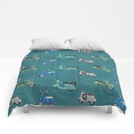 Vintage Vespas Comforters