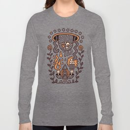 Grand Magus Summons Entity With Dark Popcorn Power Long Sleeve T-shirt