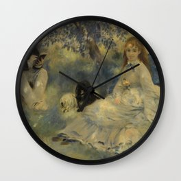 La Famille Henriot by Auguste Renoir Wall Clock