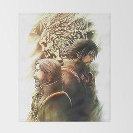King and Prince ( Final fantasy XV ) Throw Blanket