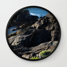Cliffs over the sea with seagulls Wall Clock