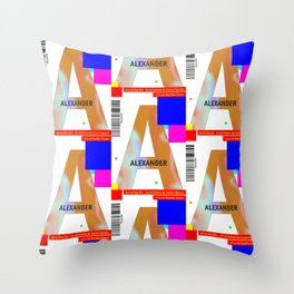 "Cocktail ""A"" - Alexander Throw Pillow"