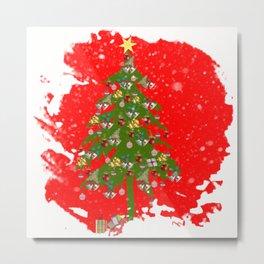 Xmas tree Vignette Metal Print