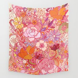 Detailed summer floral pattern Wall Tapestry