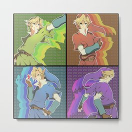 Legend of Zelda: 4 Swords adult Links Metal Print
