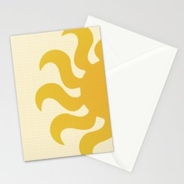Knitted sun Stationery Cards