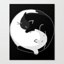 Yin Yang Cats Canvas Print