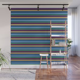 Toucan Blue Stripes Wall Mural