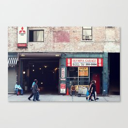 Olympia Garage Canvas Print