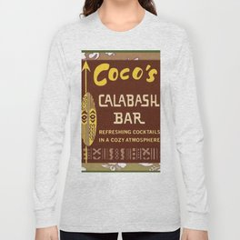 Tiki Art - Coco's Calabash Bar Long Sleeve T-shirt