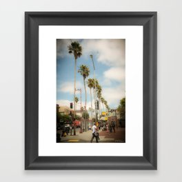 sf palm trees Framed Art Print