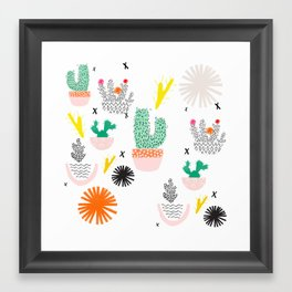 cactus potplant garden Framed Art Print